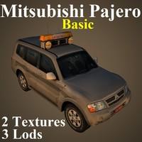 mitsubishi pajero basic 3D