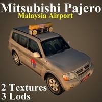 3D mitsubishi pajero mas