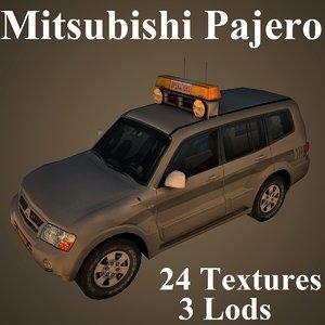 mitsubishi pajero 3D model