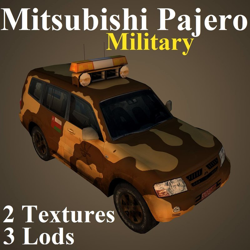 3D mitsubishi pajero mil model