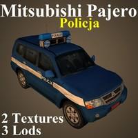 mitsubishi pajero po2 3D model