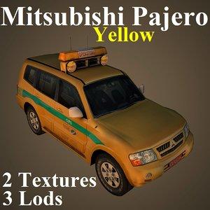 3D mitsubishi pajero yel model