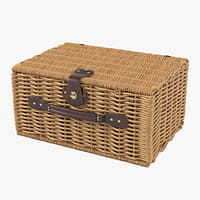 willow picnic basket 3D model