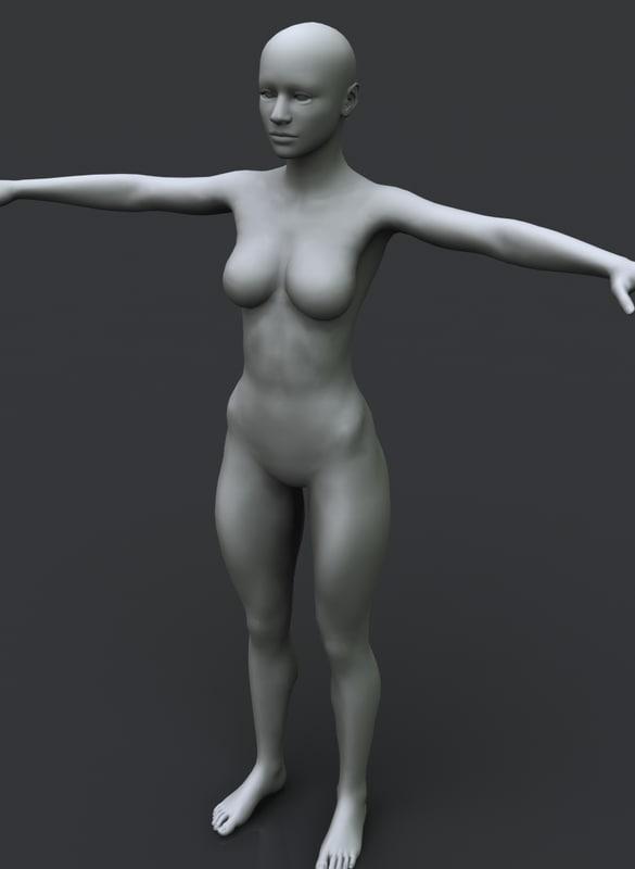 3D girl lady woman