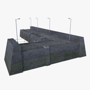3D pier 7 model