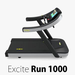 excite run 1000 technogym 3D model