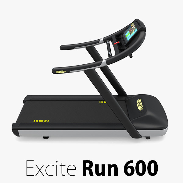3D excite run 600 technogym model