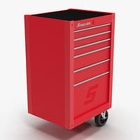 tool storage end red 3D model