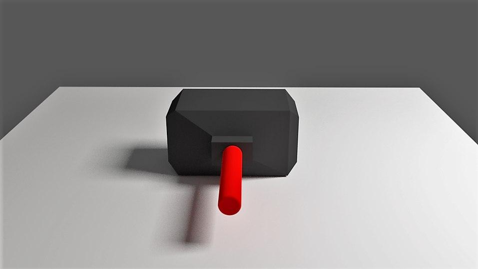 hammer size 3D model