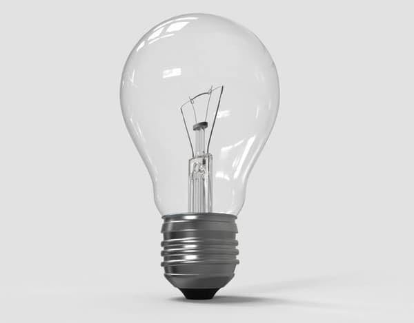 3D model lamp bulb