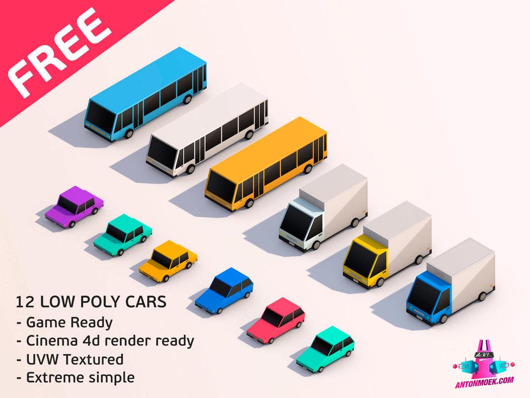 3D city vehicles simple model