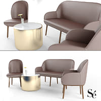Beetley Se Collection: Chair, Armchair, BenchAand Side Table Set.