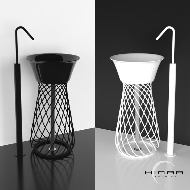 3D wire washbasin