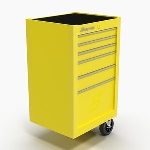 tool storage end yellow 3D model