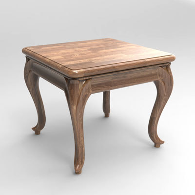 carving end table model