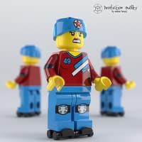 3D lego roller derby girl