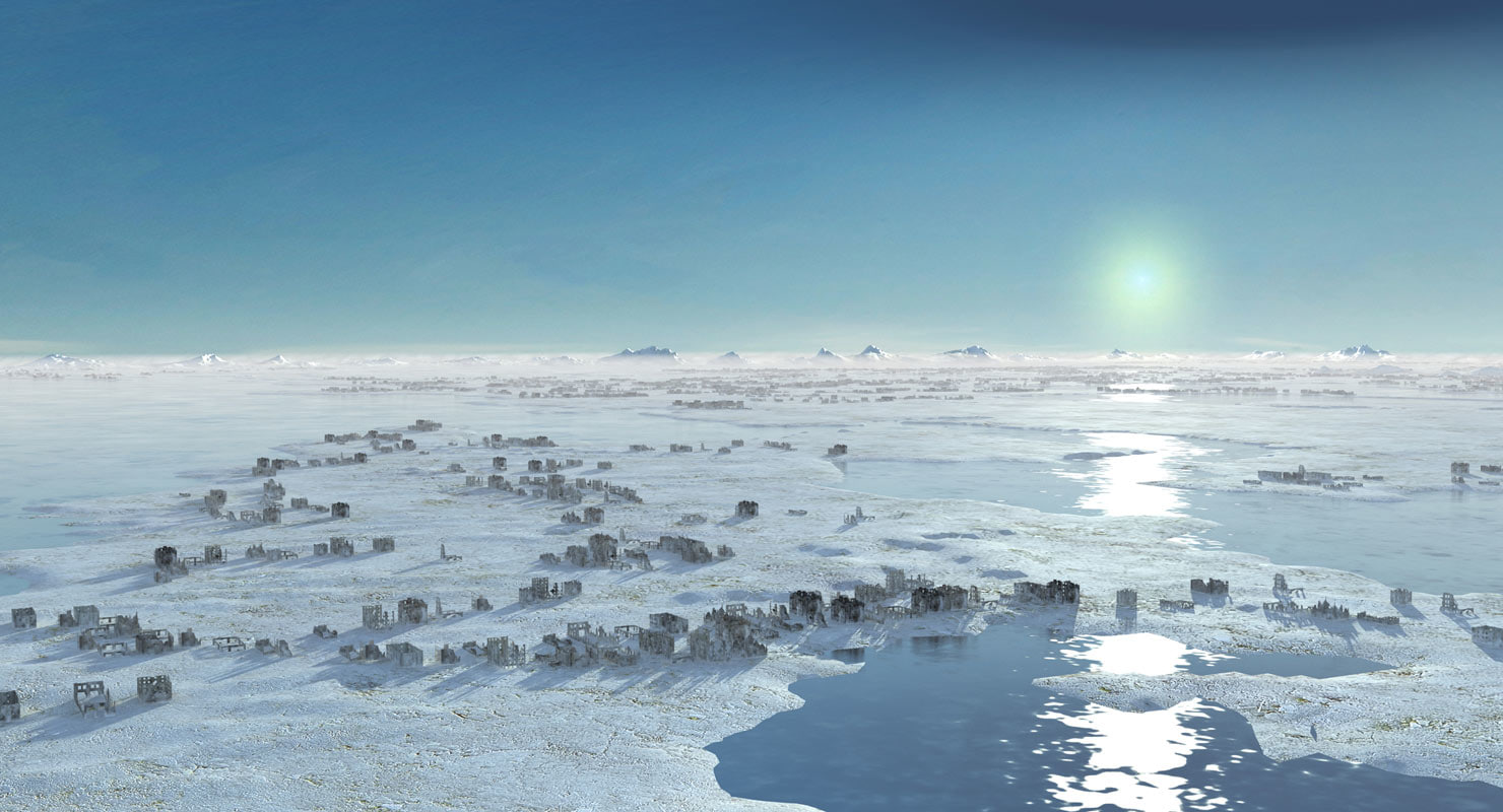 landscape tundra horizon terrain 3D