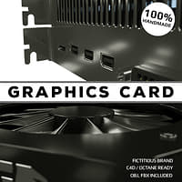 graphics card video 3D model