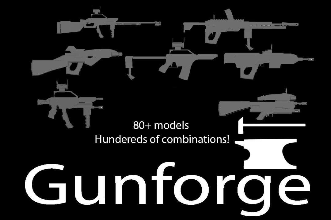 gunforge pack gun 3D model