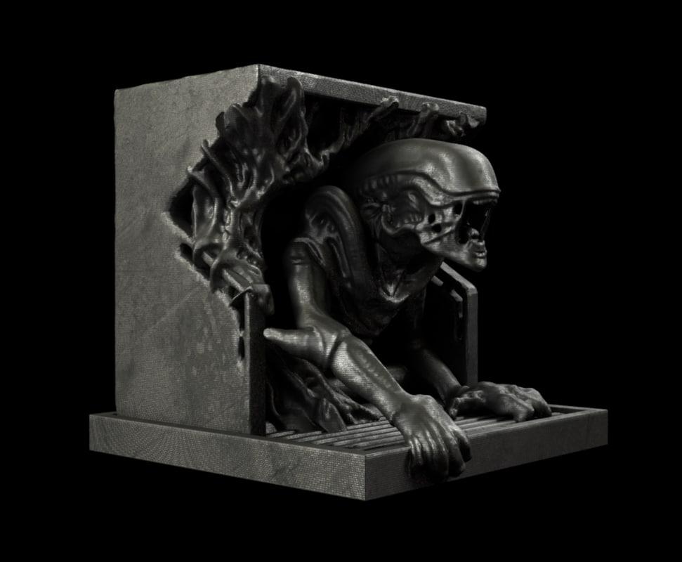 3D alien statue