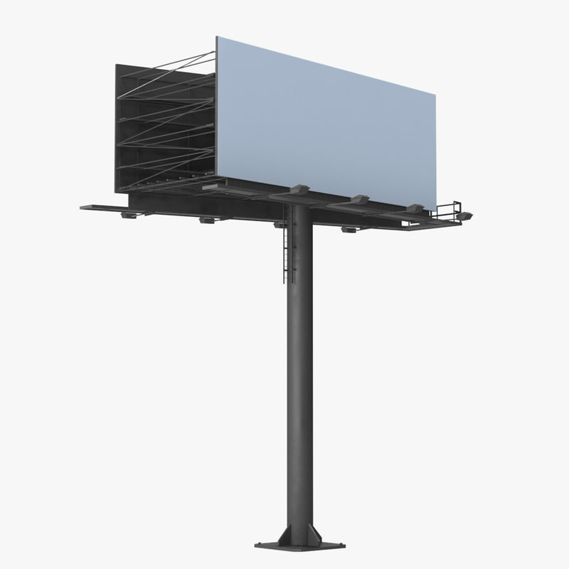 3D billboard 2 grey