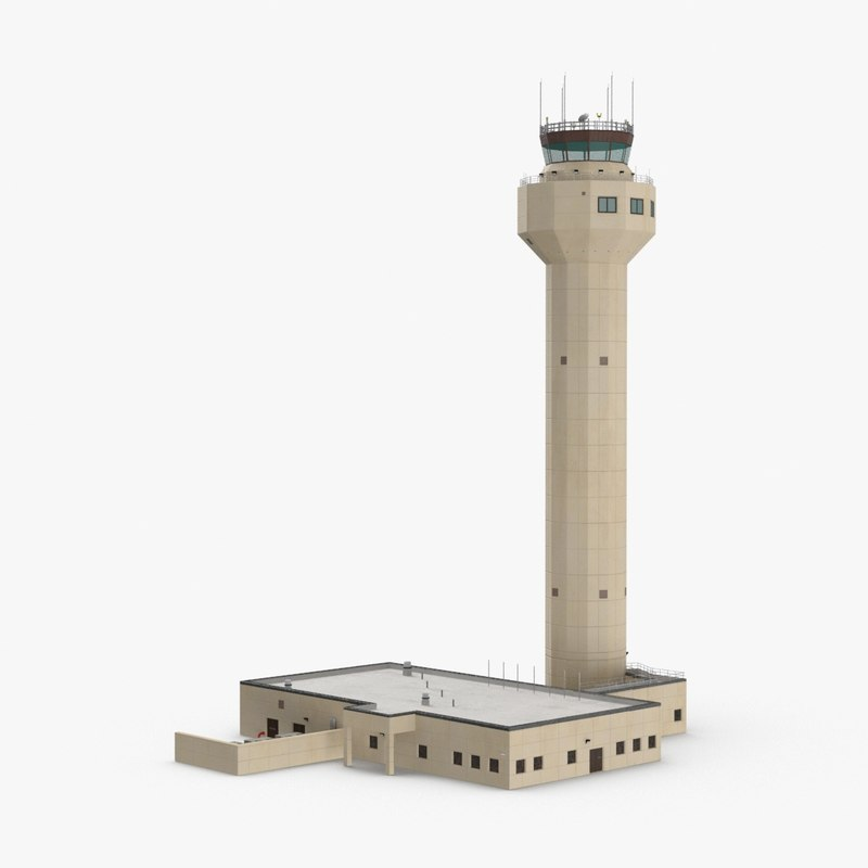 3D airport-control-tower