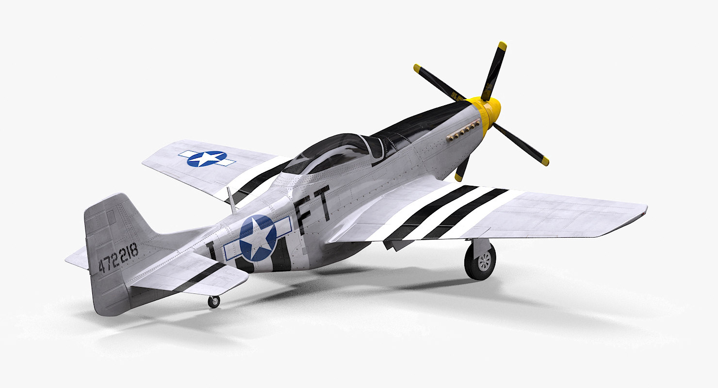 p-51d angels playmate 3D model