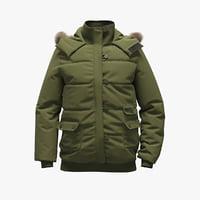 realistic green jacket 3D