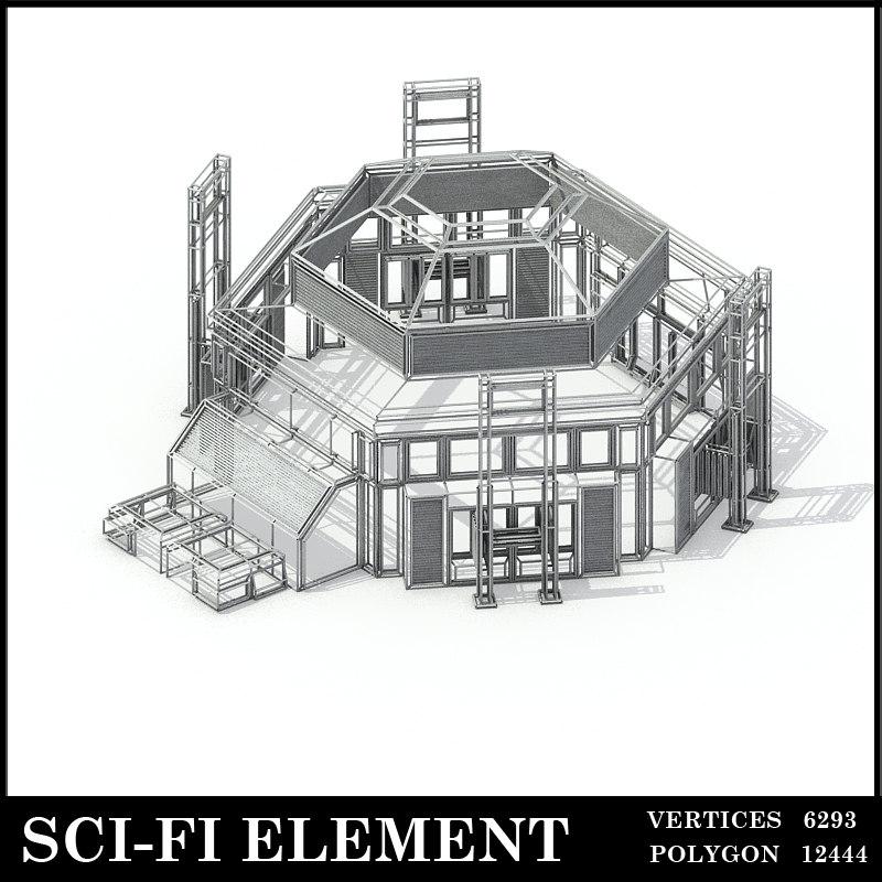 lowpolygon scifi element 3D model