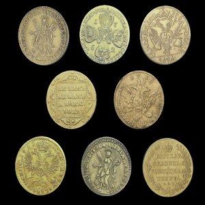 3D gold coins model
