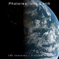 Photorealistic Earth planet