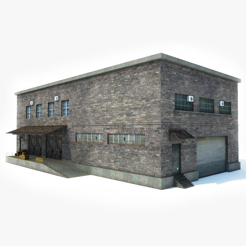 factory building 3D