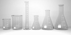 3D model laboratory glassware