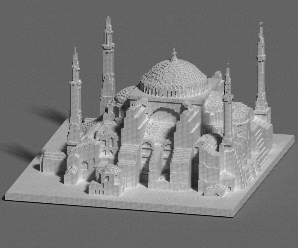 hagia sophia 3D model