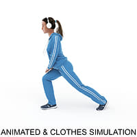 3D animation clothes point