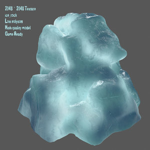 3D model snow frozen