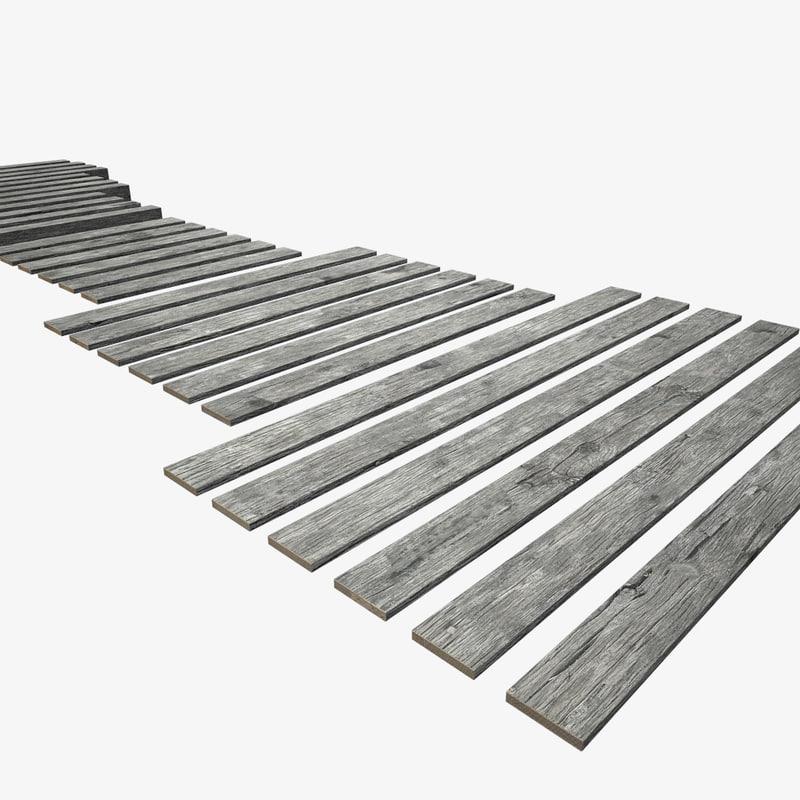 3D set planks model