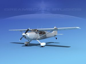 propeller cessna airplane 170 3D model