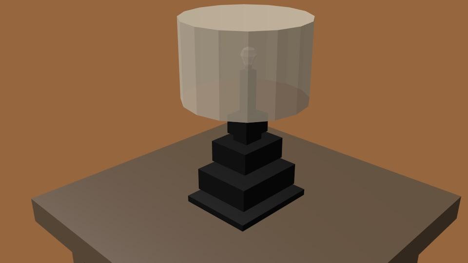 3D bedroom lamp