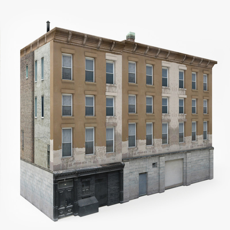 3d Model House Building Residential: 3D Ready Apartment Building