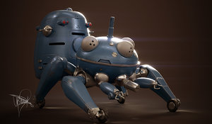 3D model tachikoma ghost shell