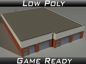 3D factory building 20