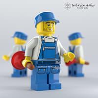 3D lego plumber figure