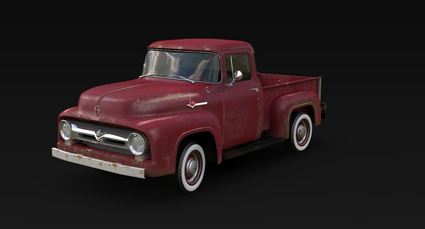 f-100 rusted 3D model