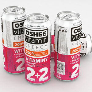 3D beverage vitamin oshee model