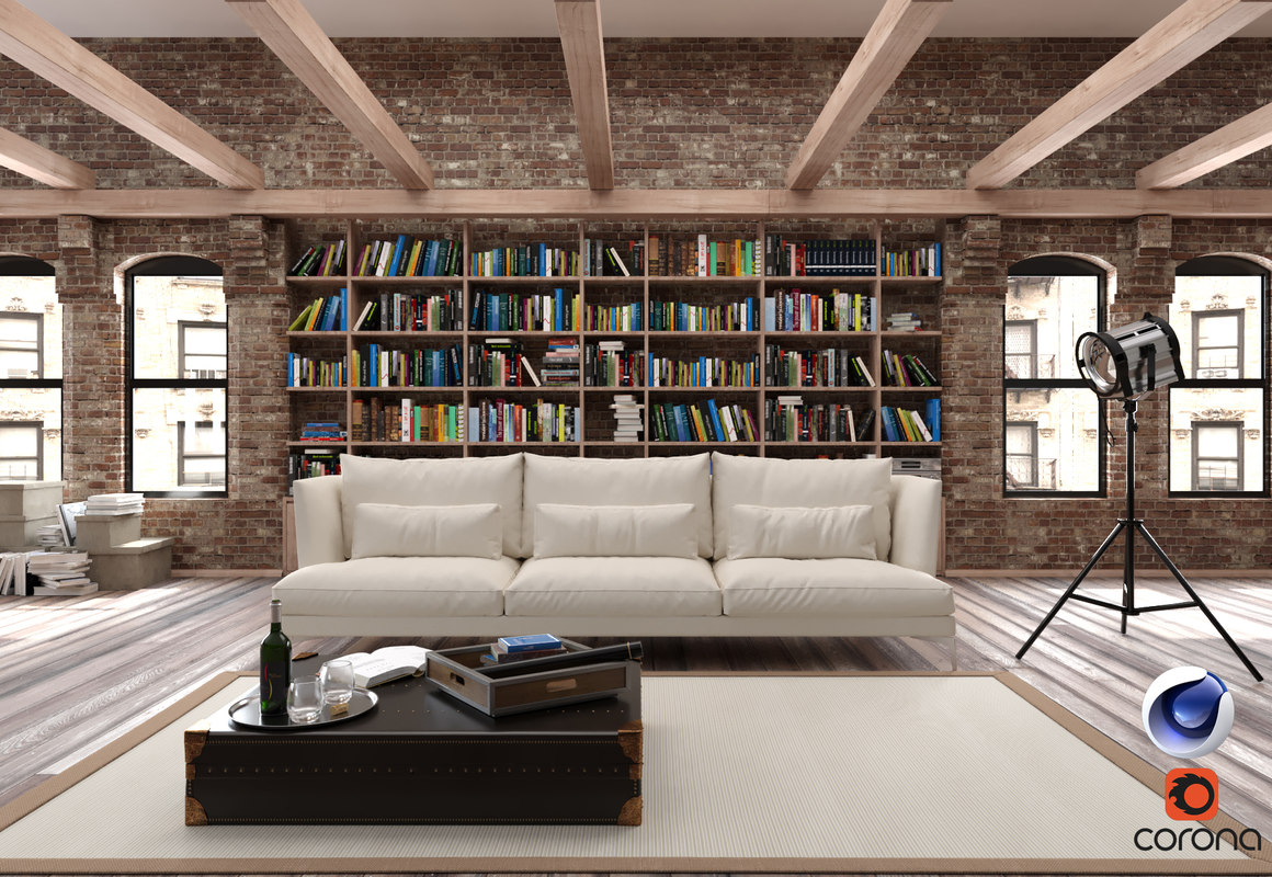 Model Living Room. 3D model living room corona Free  TurboSquid 1160877