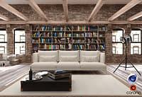 Loft Living Room C4D + Corona