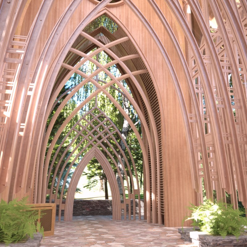 interior mildred memorial chapel 3D model