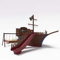 pirate ship playground 3D