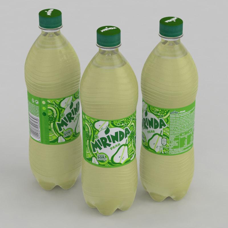 beverage bottle mirinda pear 3D